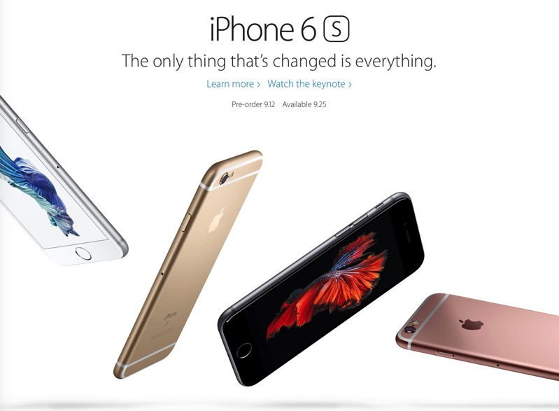 Iphone 6s preorder