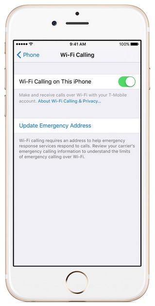 Iphone wifi calling
