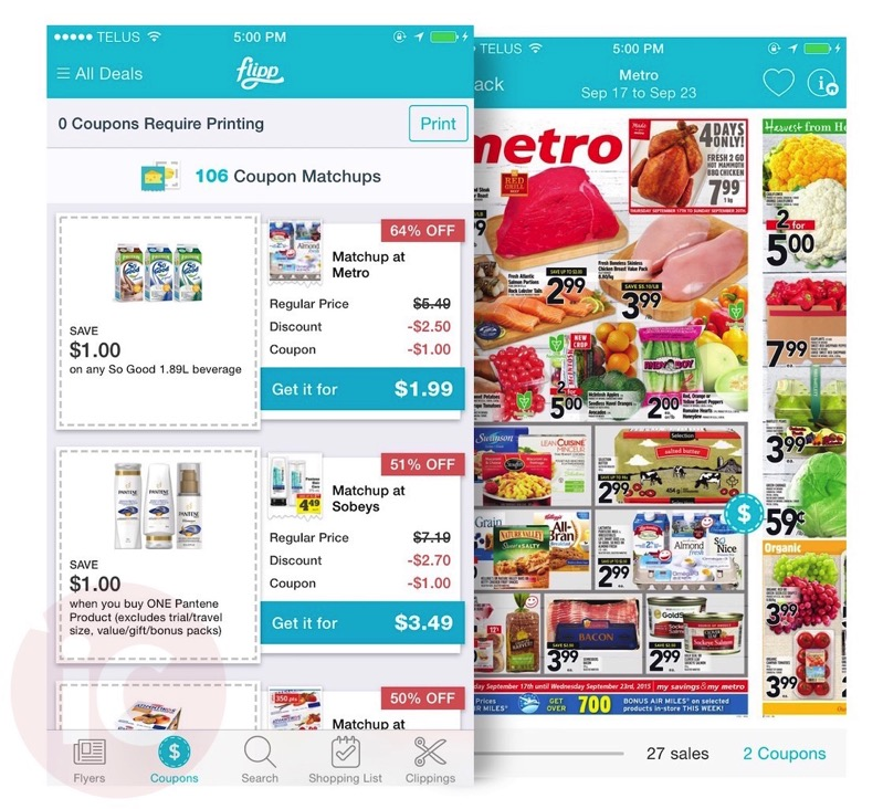 coupons canada app