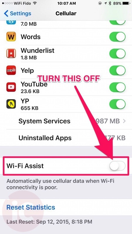 Wifi assist