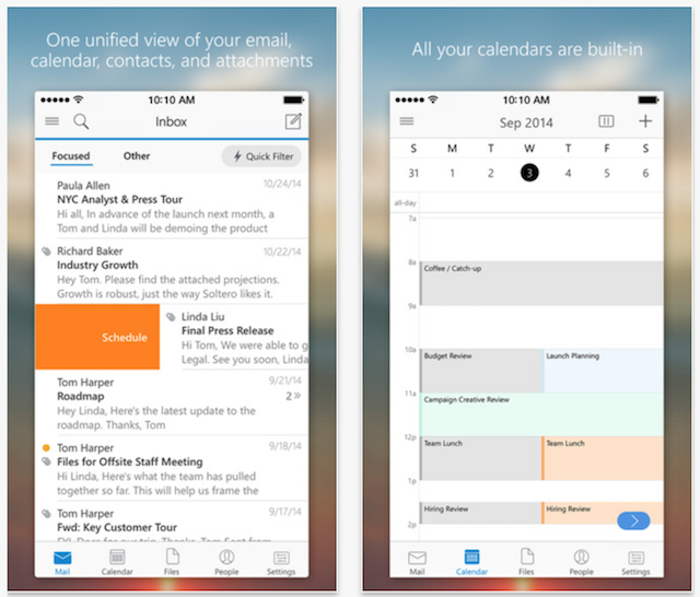 Microsoft Updates Outlook For IOS App For Improved