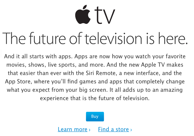 Apple tv future tv