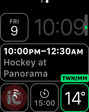 Apple watch weather network