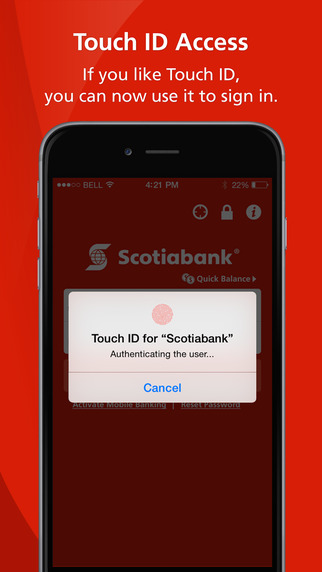 Scotiabank for iPhone Updated with Touch ID Support [u] | iPhone in