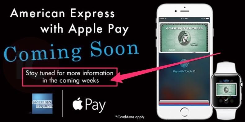 Amex apple pay canada