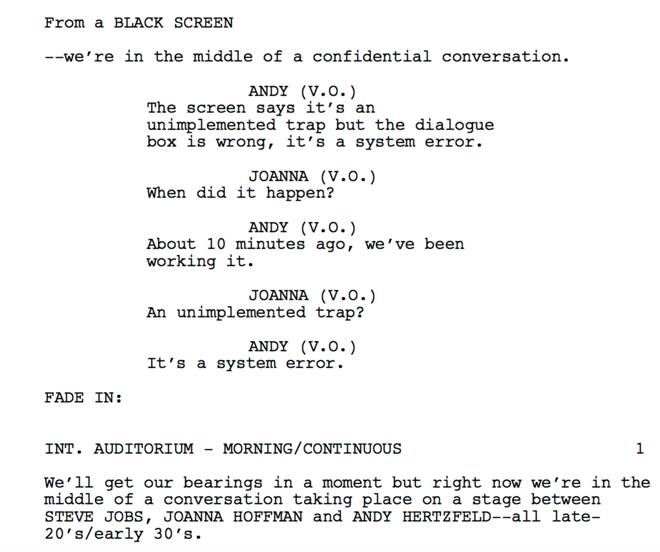 read the entire script of universal s steve jobs movie here