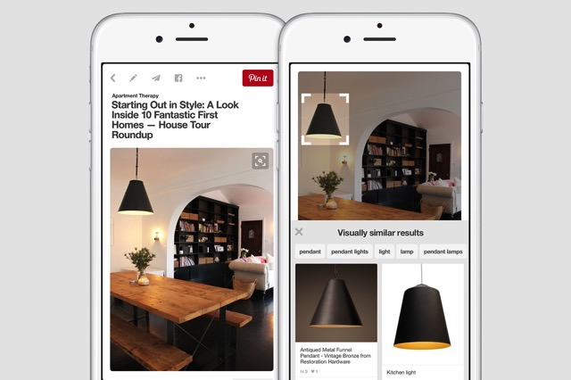 Visual search results static