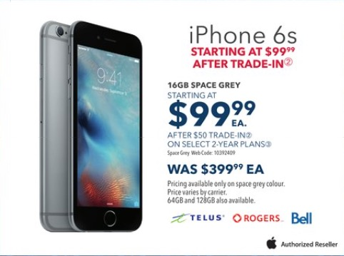 Best Buy Boxing Day Sale 16gb Iphone 6s For 99 99 After Trade In Iphone In Canada Blog