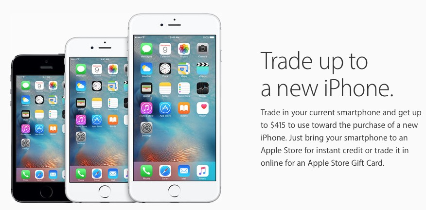 iphone trade in deals apple canada smartphone trade in now offers up to 415 15504