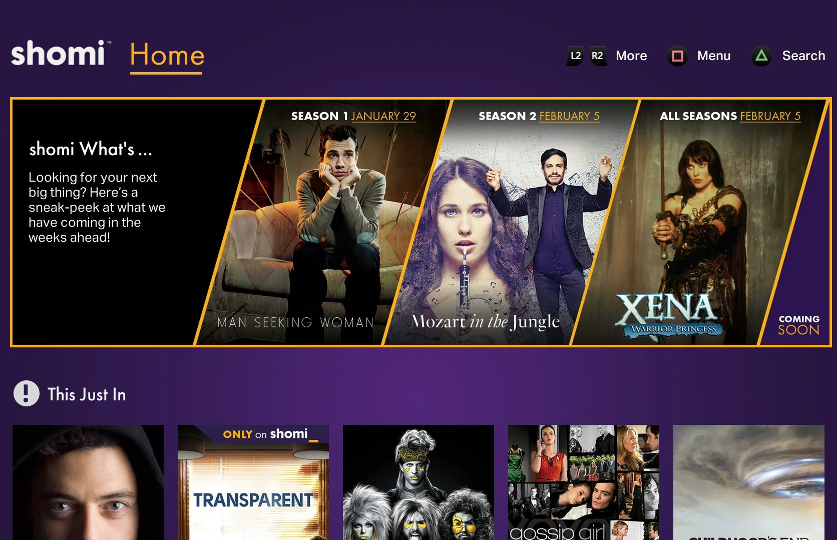 Experience shomi on the PS4 system, now available (CNW Group/shomi)