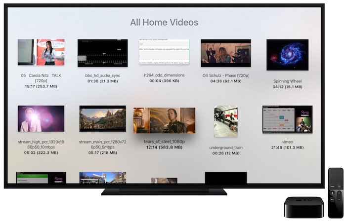 Apple TV device browse small