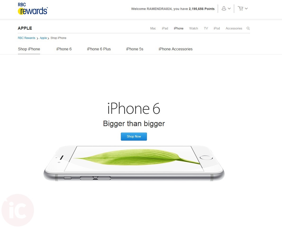 RBC Rewards - Shop iPhone EN