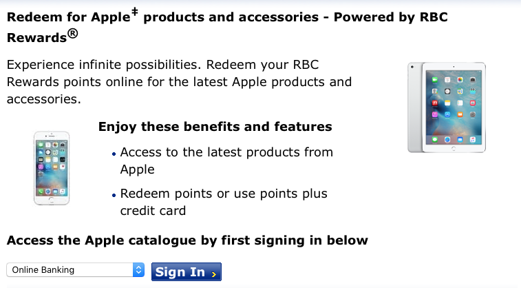 RBC Rewards Partners with Apple to Redeem New Products on