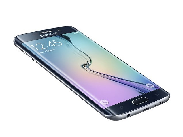 Samsung galaxy s6 edge press image side