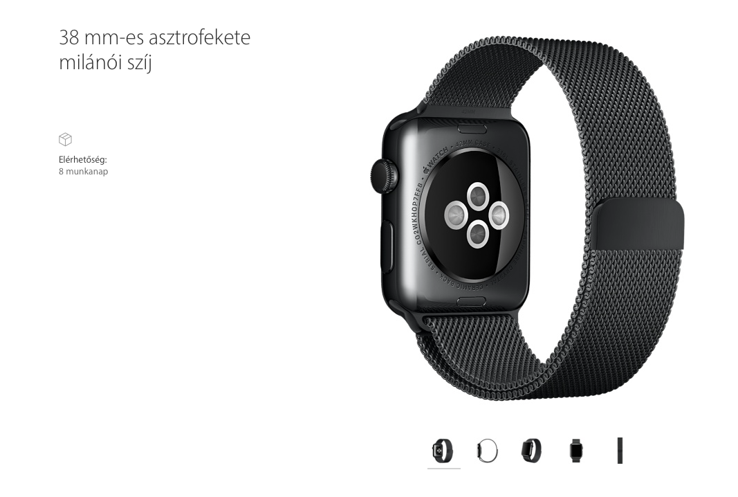 space black milanese loop