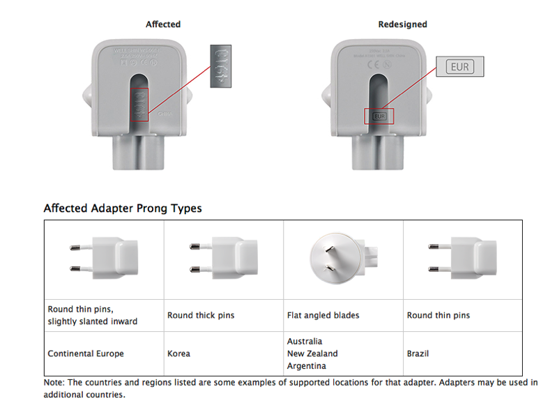Wall adapter exchange