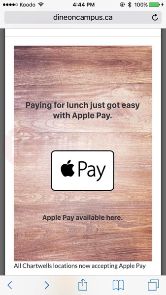 Apple pay dine on