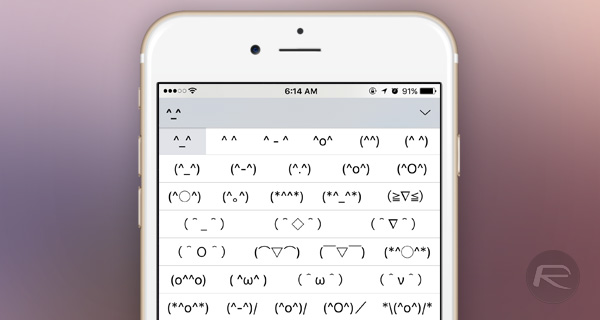 IOS unicode emoticon keyboard