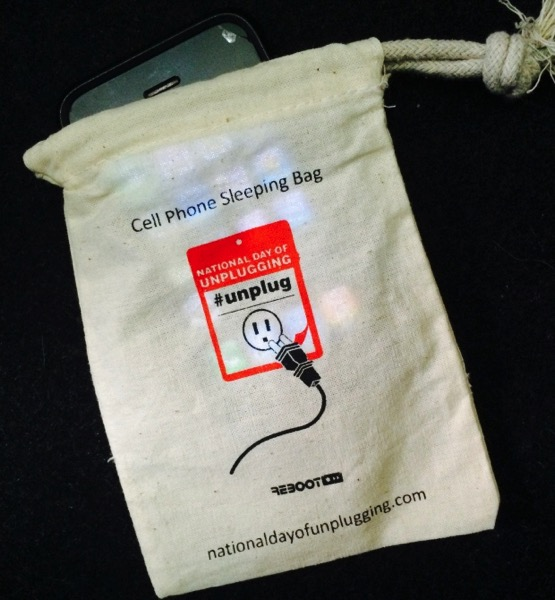 National day of unplugging cell phone sleeping bag