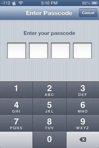 Passcode 320x480