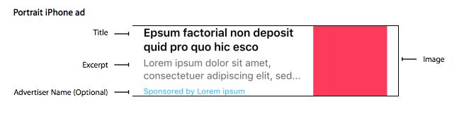 Apple news native ad
