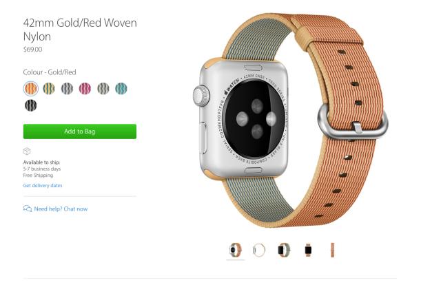 apple watch woven nylon
