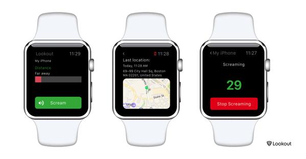 Applewatch en threescreens