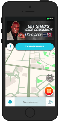 Waze Adds Shaquille O'Neal as Free Voice to Guide Navigation