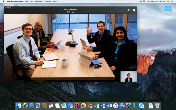 Skype for Business Mac Preview 2b