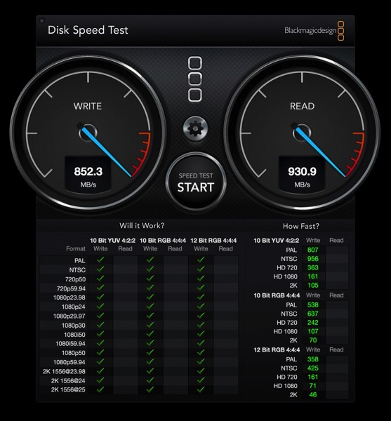 Black magic disk speed