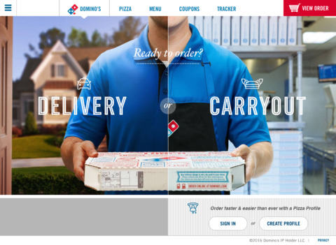 Domino s pizza ipad