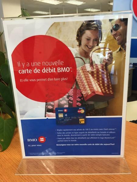 Bmo debit card new