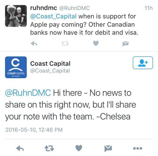 coast capital apple pay