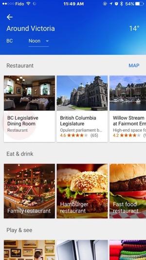 Google maps explore canada