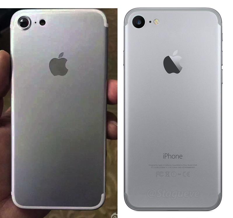 IPhone 7 Leak vs iPhone 7 Render