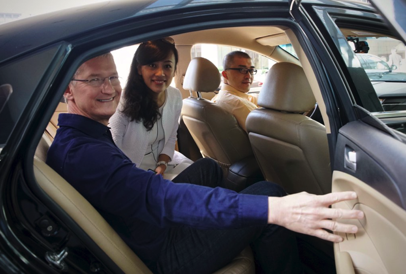 Tim cook didi ride