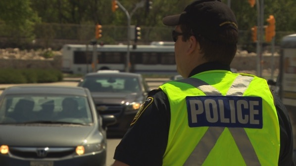 Winnipeg police distracted driving enforcement traffic
