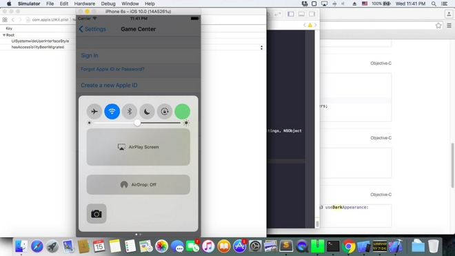 More Evidence of iOS 10 'Dark Mode' Emerges in Xcode