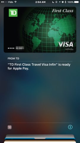 Apple Pay TD
