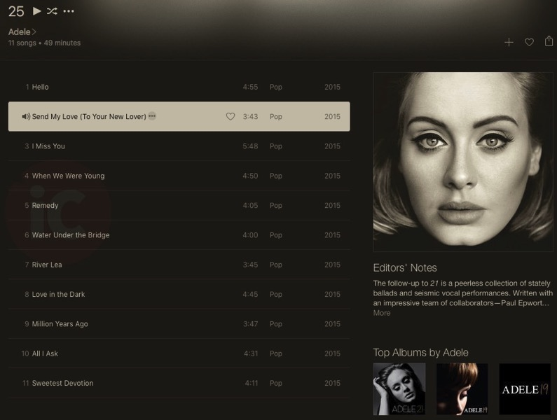 Adele 25 apple music