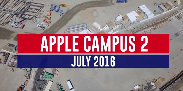 Apple campus 2 drone 4k