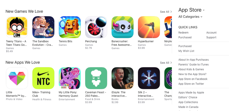 Canadian app store
