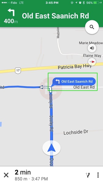 Google maps street labels