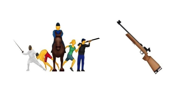Modern pentathlon rifle emoji emojipedia sample images