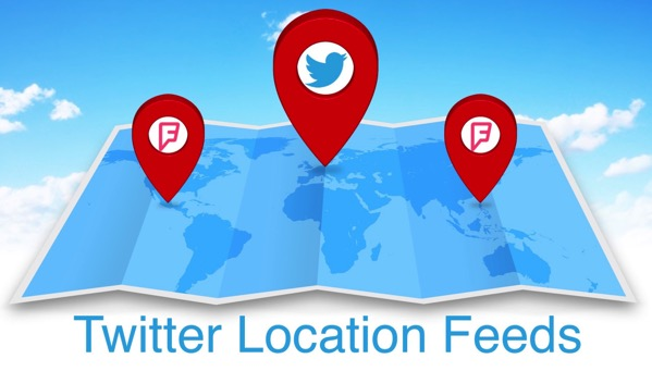 Twitter location feed