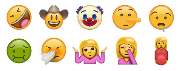 Unicode 9 faces emojipedia sample images