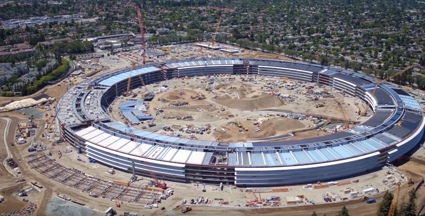 Apple campus 2 construction