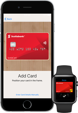 Apple pay apple watch add card