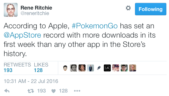 Pokemon go record