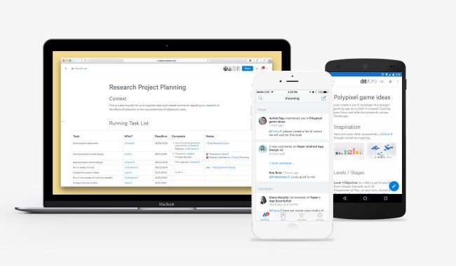 Dropbox paper desktop and mobile2